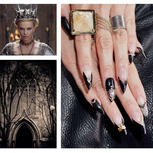 Stiletto nail art. Design
