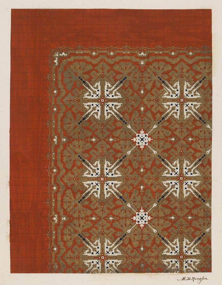 Carpet Design by M.D. Renssen, 1903 / 1914. Deventer Musea, CC BY-SA