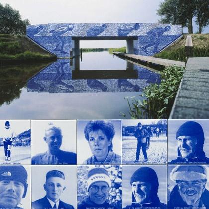 bruggetje elf steden route/ friesland