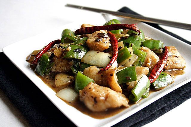 Stir-fried Fish Fillet with Black Bean Sauce Recipe | Easy Asian Recipes at RasaMalaysia.com