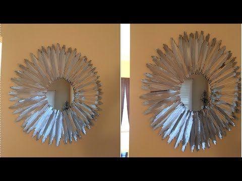 Dollar Treee DIY - 💕 Silver Wall Mirror💕