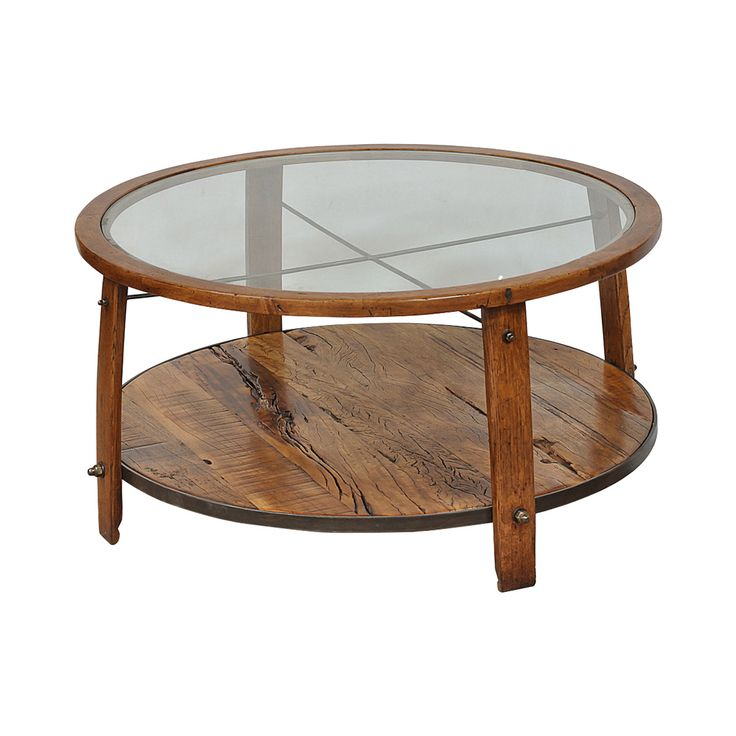 Center Your Seating Around The Moonville Wood Barrel Coffee Table, Lending  A Casual And Attractive