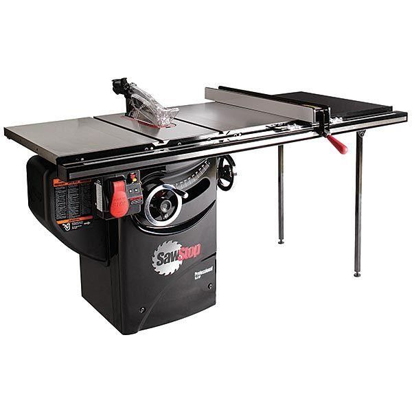 "[👍Tested] Save your priceless fingers!!! SawStop 3 HP Professional Cabinet Saw with 36"" Professional T-Glide Fence System. Best in class American table saw. The safest most stable alignment, and all original modern table saw design."