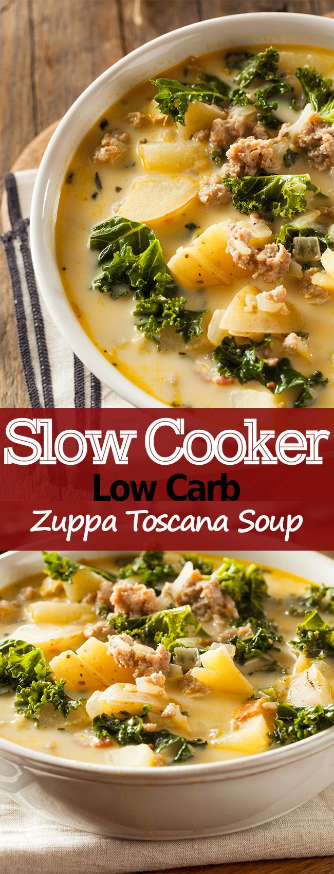 Diet Recipe Slow Cooker Low Carb Zuppa Toscana Soup – Fitness Diet Recipes