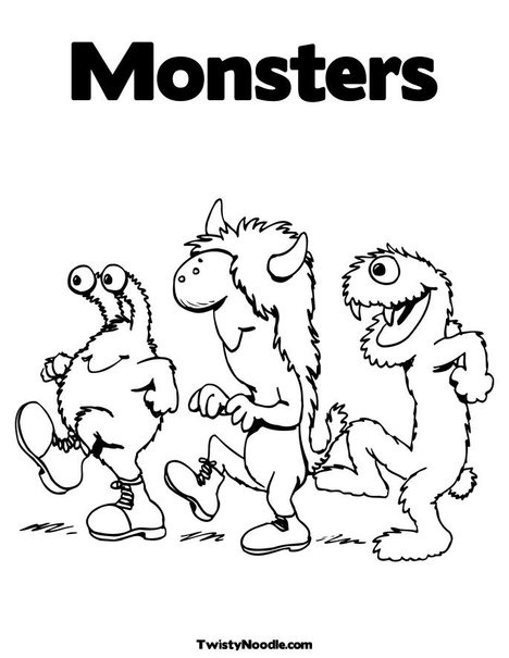 i love these monster coloring pages