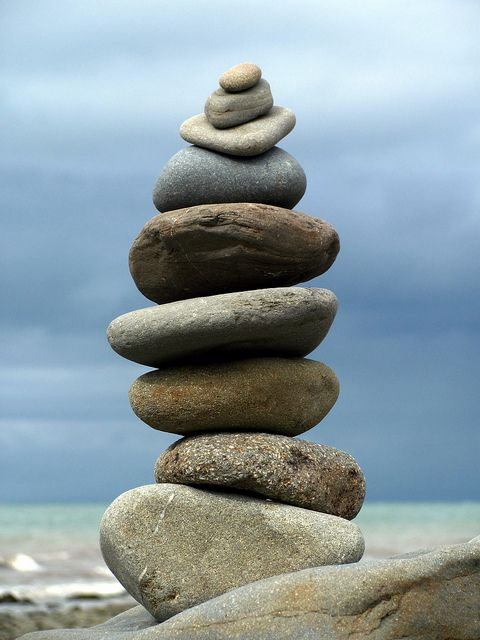stone stack by lisaluvz - FLICKR - This photo was taken on August 6, 2010 in Aberarth, Wales, GB, using a Canon PowerShot SX120 IS.