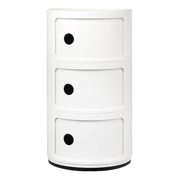 Componibili storage unit, 3 modules, white