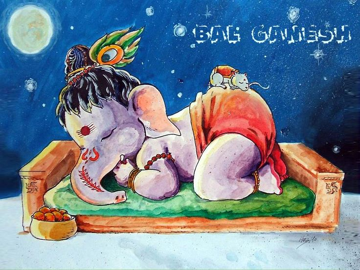 Cute Bal Ganesh Wallpaper Free Download