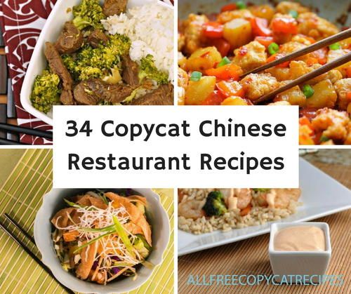 34 Copycat Chinese Restaurant Takeout Recipes is a collection of some classic carry out dishes. There's no need to dine in or wrap up your leftovers, now you can make these copycat restaurant meals in your kitchen and on your own time.