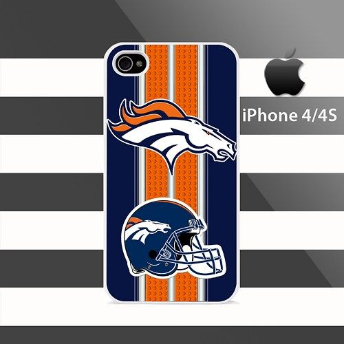Denver Broncos Leo Stripes iphone 4 4s Rubber Case Cover