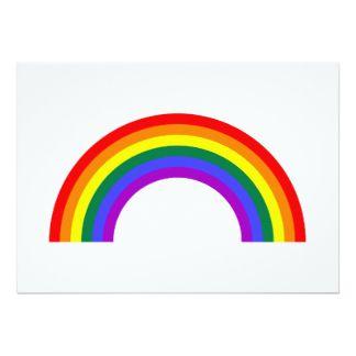Forma del arco iris invitación 12,7 x 17,8 cm