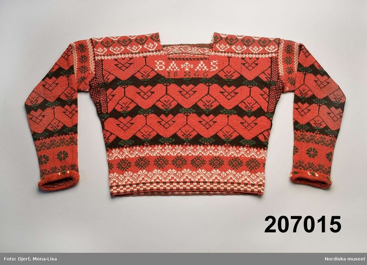 Stickad tröja Bjuråker, Sweden.
