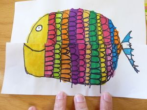 41 best images about graphisme ponts on pinterest fine motor search and album - Poisson avril maternelle ...