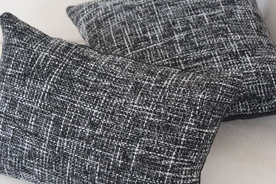 Set of 5, Decorative Black and White Pillow Cover Set, Living Room, Bedroom on Etsy, $46.00