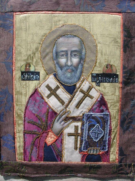 Orthodox ICON St. Nicholas  Miracle-worker by SKOROPOSLUSHNITSA
