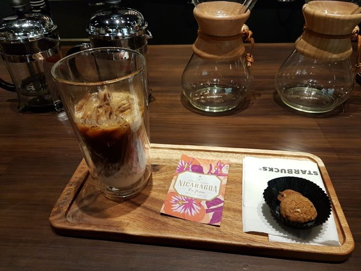 Starbucks Reserve, Plaza Senayan.  Grand Opening, May 18th, 2017. Beverage in photo: - Grande  - Americano  - On the rock - 1 shot Breve