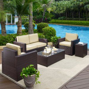 Resin Wicker Patio Sets Conversation Patio Sets On Hayneedle   Resin Wickeru2026