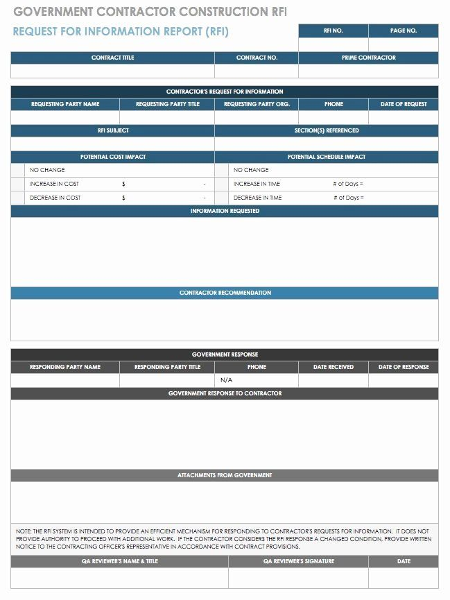 Request For Information Template Construction Awesome Free Request For Information Templates Templates Free Design Templates Project Management Templates