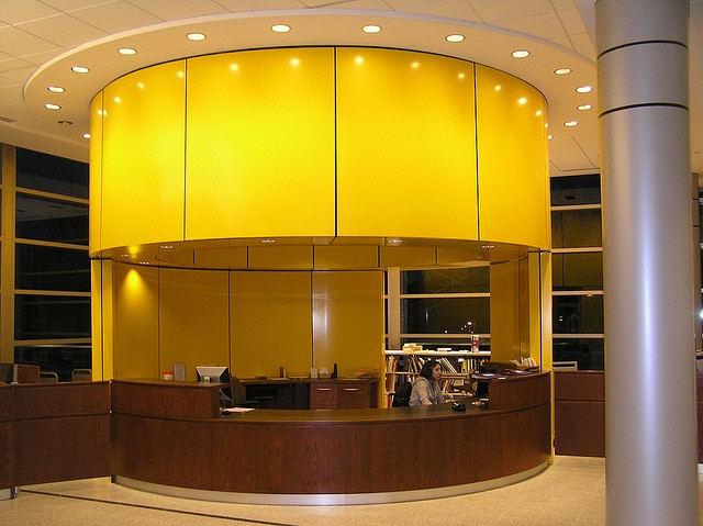 Circulation Desk by Purchase College Library, via Flickr