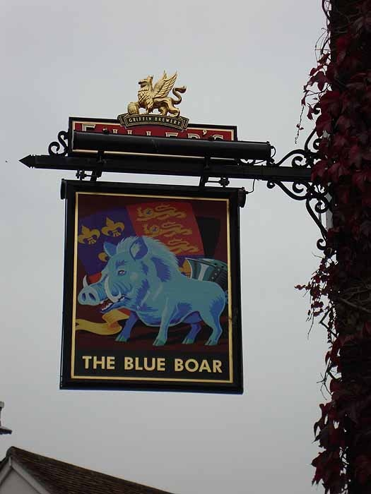 I've been here! The first time I traveled to England. Pubs Signs, UK The Blue Boar, Poole