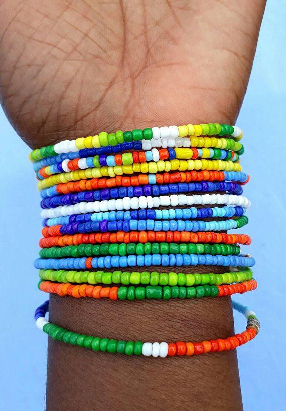 Layered Bracelet Adjustable Friendship Multi Strand Bracelet Custom Bracelet Seed Bead Bracelet Macrame Bracelet 4 strand Bracelet