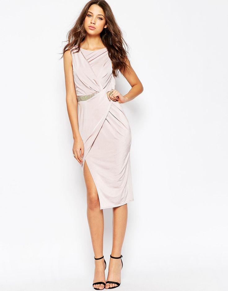 Bild 4 von ASOS TALL – Verdrehtes enges Kleid mit verzierter Taille