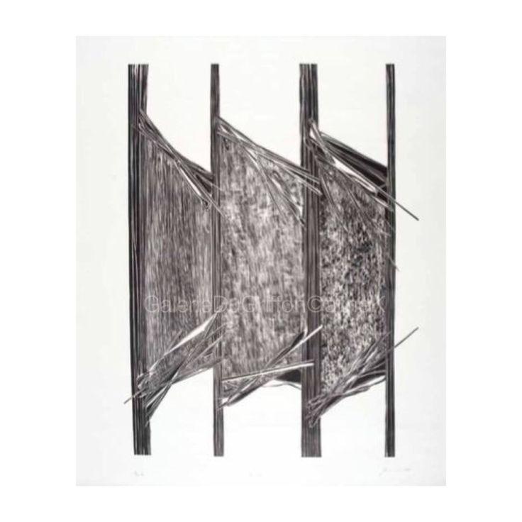 ➕ MARIA BONOMI Roofs VB, 2015   Xylogravure/Xylographie sur Contreplaqué, 130 x 104 cm, Signée et numérotée 8/10