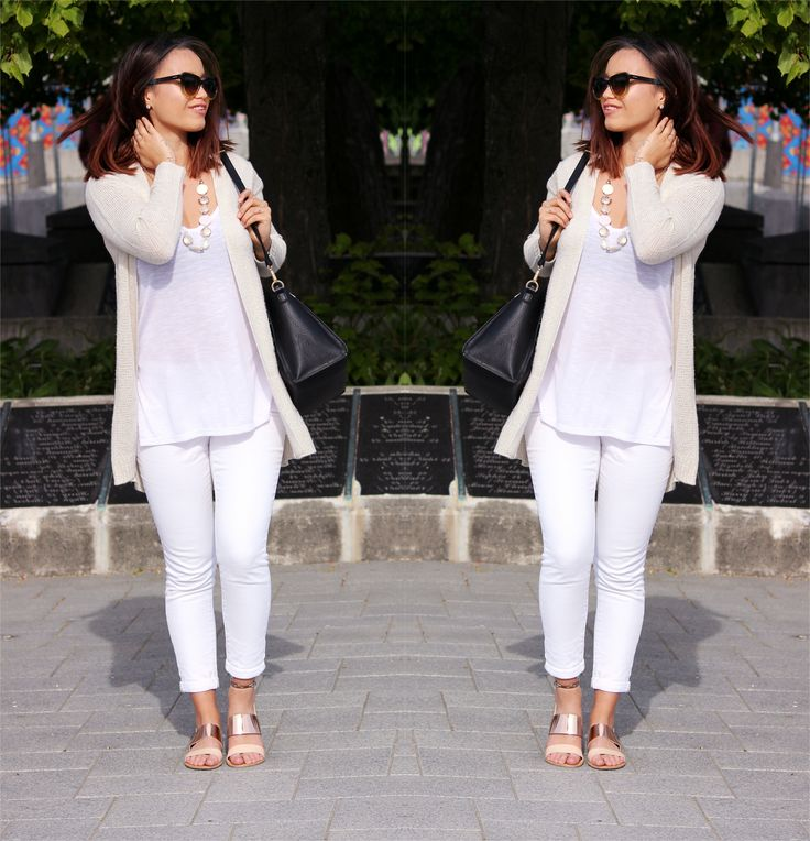 Outfit | Whiteout The Style Reef Wearing Cotton On Cardi / Cotton White Tank / White Denim Jeans Just Jeans
