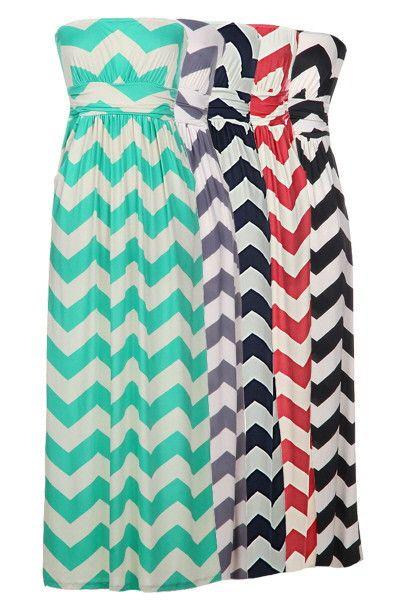Chevron Maxi Dress. Want one