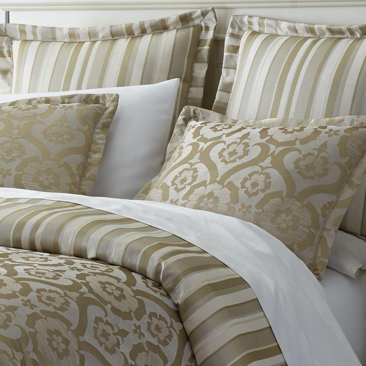 Colette Jacquard Duvet Cover & Sham - Gold | Pier 1 Imports