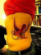 Red Cardinal Bird Tattoos but not this big