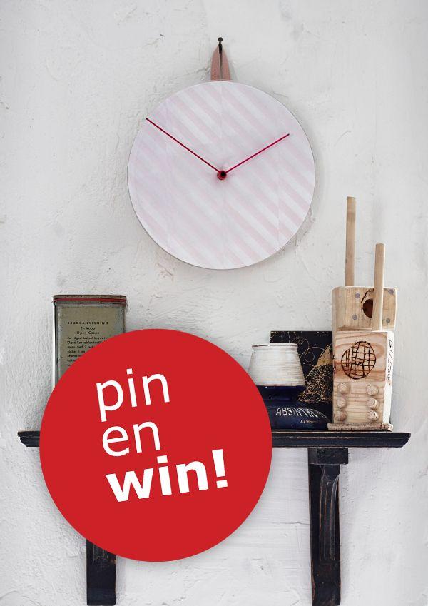 Kans maken op een echte designklok van ontwerpersduo Scholten & Baijings? Volg ons, repin deze pin, gebruik #IKEAwin en misschien hangt deze wandklok binnenkort bij jou aan de muur! Meedoen kan tot 12 mei.