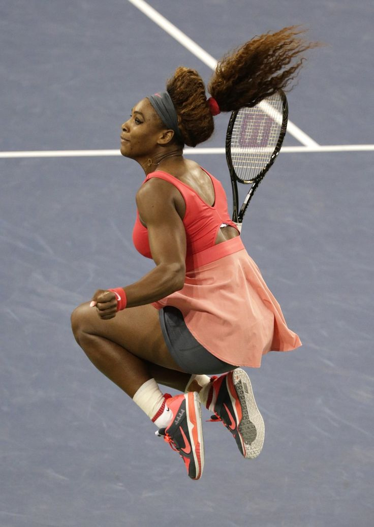 #Victory --- World #1 Serena Williams Crowned Queen of New York! .. Serena bounds into the air after winning her 5th U.S. Open Championship Title & 17th MAJOR Title!  Serena is first woman to surpass $9 Million in Prize Money in a single season, while topping $50 Million for her career. 9/8/2013  #Stellar #TEAMSERENA