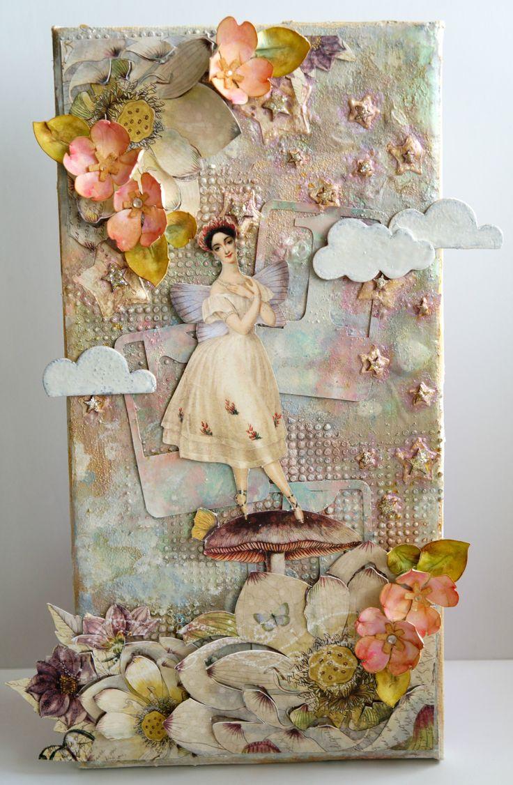 Mixed Media Fairy Canvas
