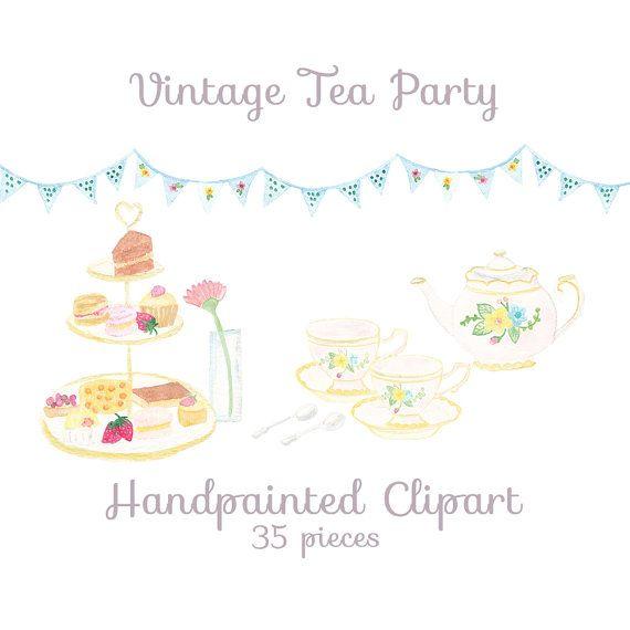 clipart tea party invitation - photo #18