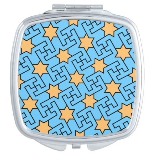 Islamic geometric pattern mirror for makeup