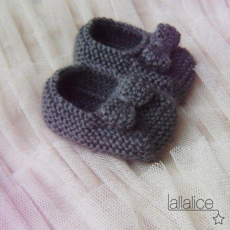 chaussons bébé noeud
