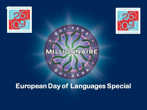 European Day of Languages Millionaire Quiz