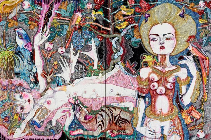 come of things, (2010) by Del Kathryn Barton :: The Collection :: Art Gallery NSW