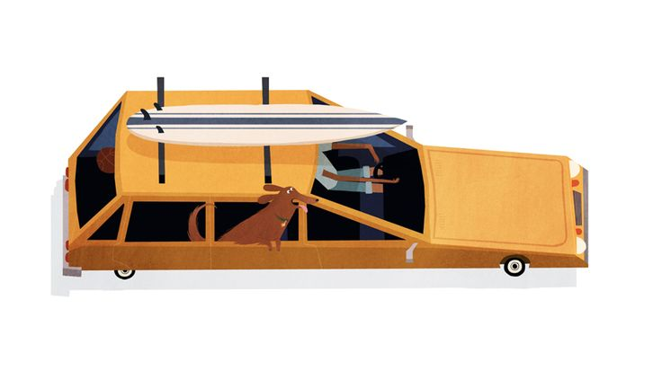 Dogs & Cars — EMMANUELLE WALKER: Cars Illustration, Emmanuelle Walker S, Illustrations, Cars Series, Art, 34 Emmanuellewalkerdogcar01, Walker S Dogs, Things, Design