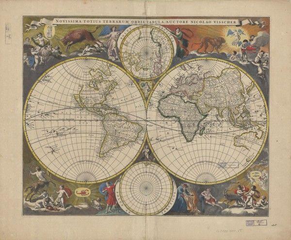 20 libera el mapa de la vendimia Imágenes para imprimir | Remodelaholic.com #art #printable #maps