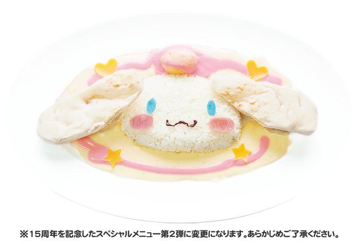 Cinnamoroll character meal at Hamo y Land, Japan ( ̄∀ ̄) キャラクターメニュー総選挙-マイメロディのピンクカレー