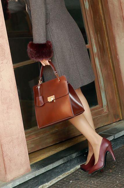 StyleOnme_No. 35096 #bag #totebag #squarebag