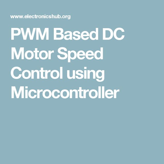 PWM Based DC Motor Speed Control using Microcontroller
