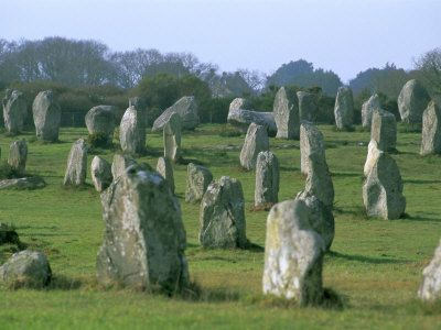 Megaliths of Carnac, France. It was raining and the rocks told me to not lean on them.