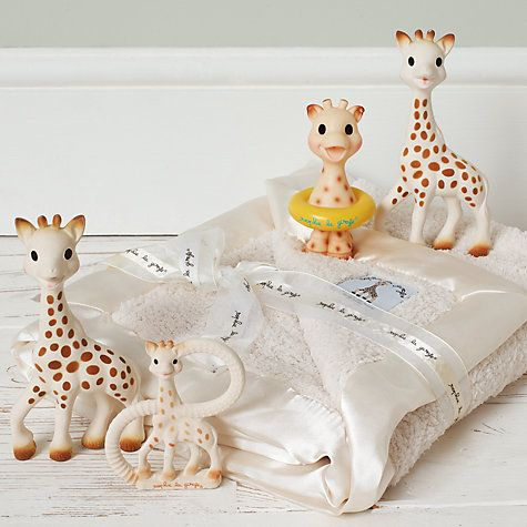 Sophie the Giraffe has been a favourite teething toy in France for half a century. Designed to stimulate baby's senses and soothe teething gums she's made from flexible, natural rubber to a closely-guarded formula.