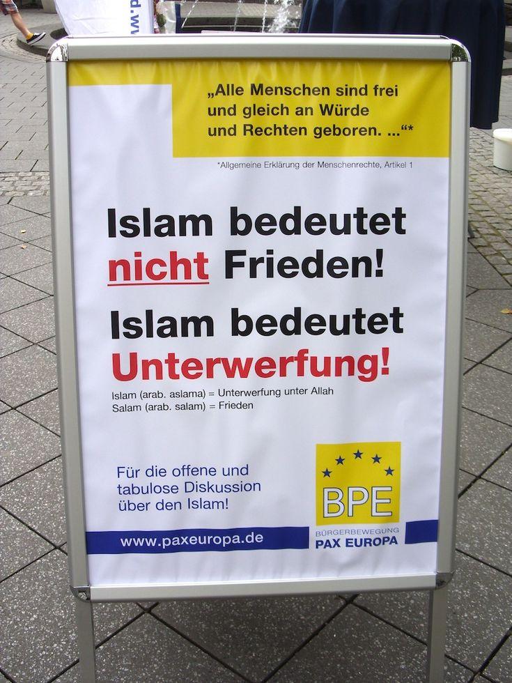 #Islamaufklärung Islam bedeutet nicht Frieden, sondern Unterwerfung! — BPE informiert in Hannover über Islam / Islamisierung | (Bürgerbewegung PAX EUROPA e.V.)