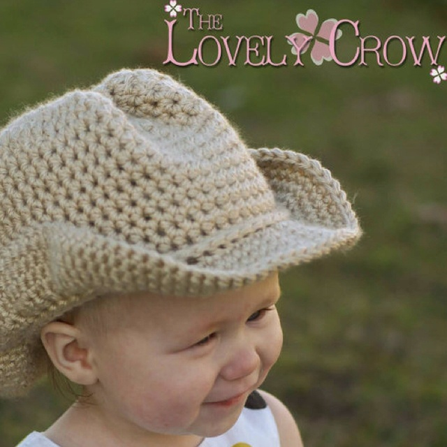 Knitting Pattern Cowboy Hat : Baby Crochet Pattern Cowboy Hat for BOOT SCOOTN Cowboy Hat Crochet/Kni...