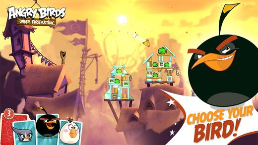 Angry birds under Pigstruction5 second level