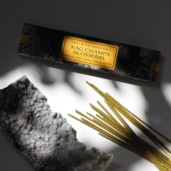 nag champa incense - the wild unknown